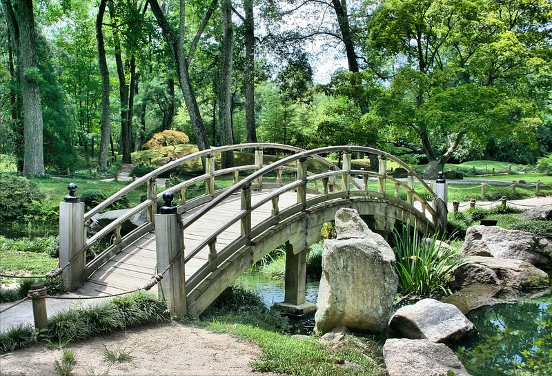 Japanese ornamental bridge