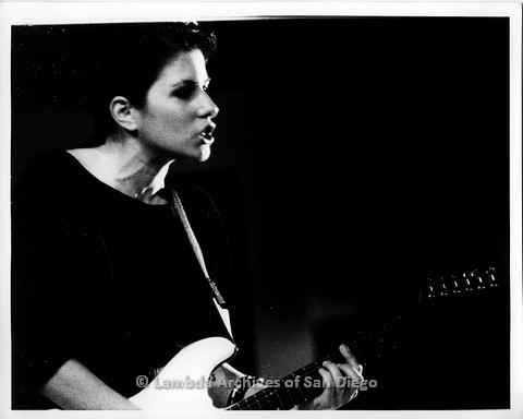 """February 1988 - """"So Many Women"""" Video Shoot: """"Melissa + Me"""", Zanne Singing and Playing Her Guitar ."""