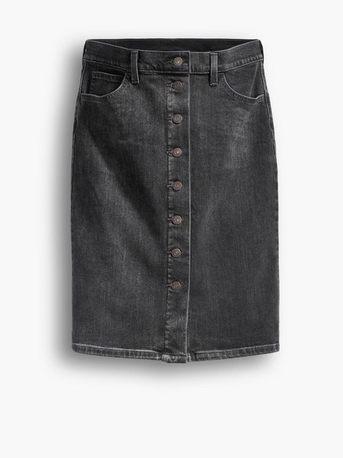 ボタンダウン・スカートの写真例。
