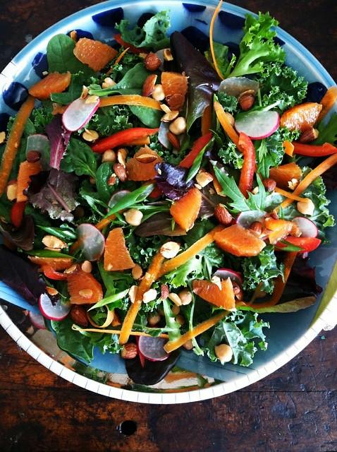 Kale, Cara Cara Orange, and Smoked Almond Salad
