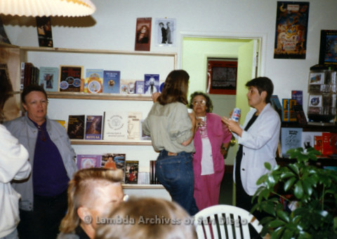 P169.062m.r.t Paradigm Women's Bookstore Grand Opening: Women socializing at bookstore