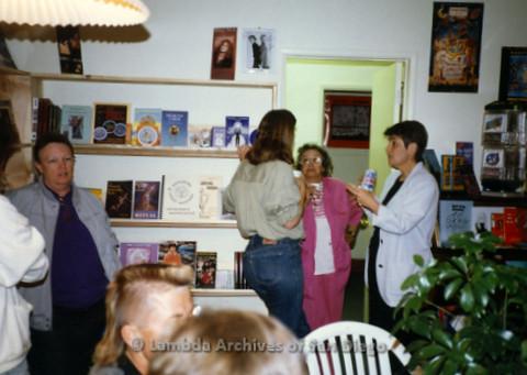 P169.062m.r.t Paradigm Women's Bookstore Grand Opening: Women socializing at bookstore