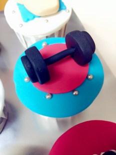 bigger dumbell cupcake