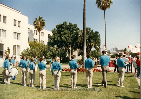 P012.025m.r.t San Diego Walks for Life 1986: America's Finest City Freedom Band playing