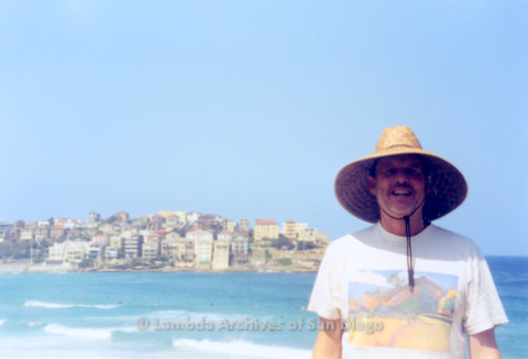 P338.003m.r.t Sydney, Australia trip: Charles McKain at Bondi Beach