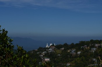 View from cemetery in Aizawl city