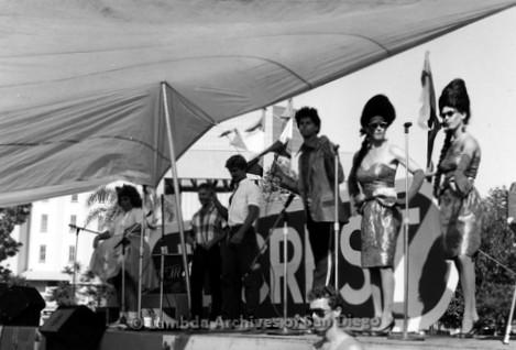 San Diego Lambda Pride Festival: Female Impersonators Perform on the Festival Stage.