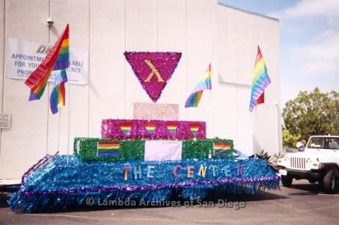 P234.029m.r.t SD Pride Parade 1998: Parade float for The Center