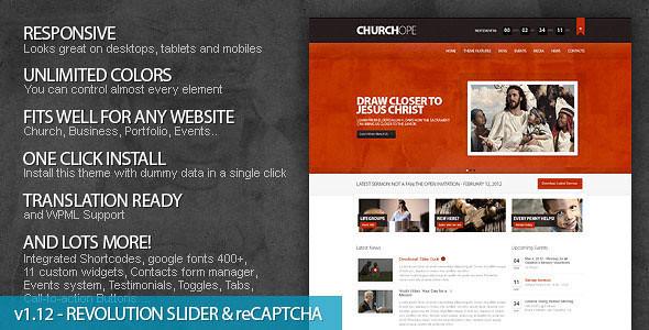 ChurcHope - Responsive WordPress Theme ver 2.1