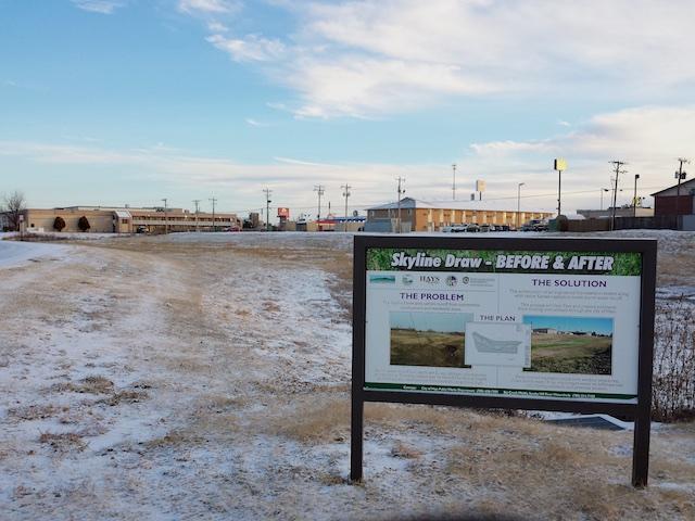 WRAPS signs 1 behind Day's Inn, Hays, KS Dec 2014