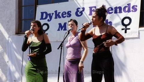 San Diego LGBTQ Pride Dyke March, 2000