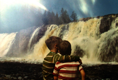 with Steve at Niagra Falls, 1970