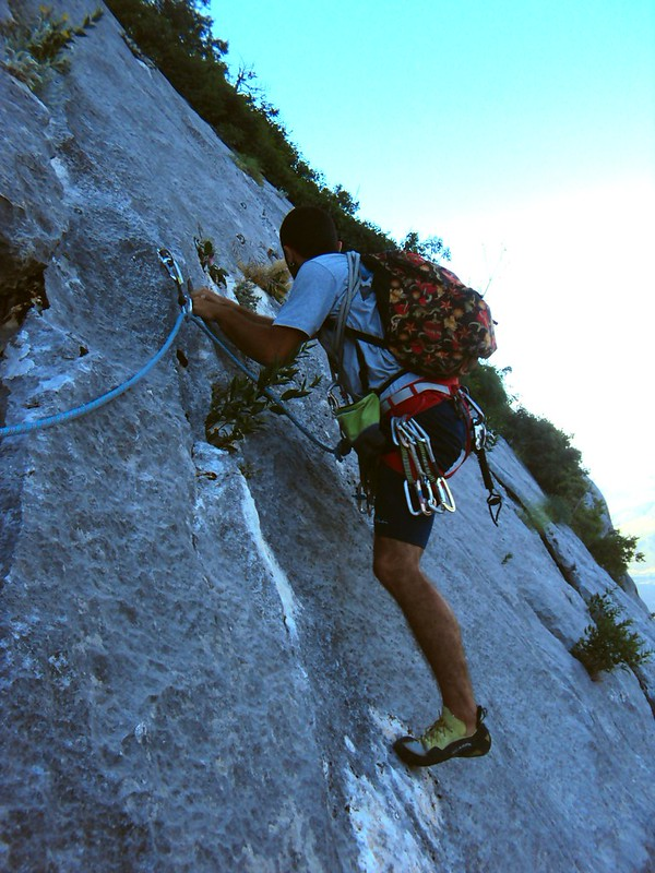 The traverse at the start of the 2nd pitch of El Kapıdan by bryandkeith on flickr