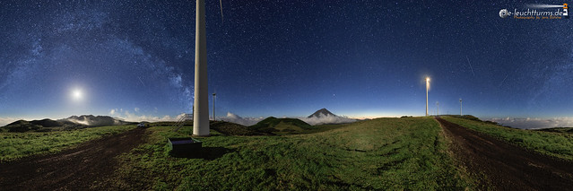 Pico highland nightscape in 360°