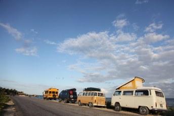 Vans at the ocean
