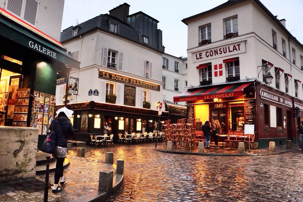 A rainy afternoon exploring Montmartre, Paris