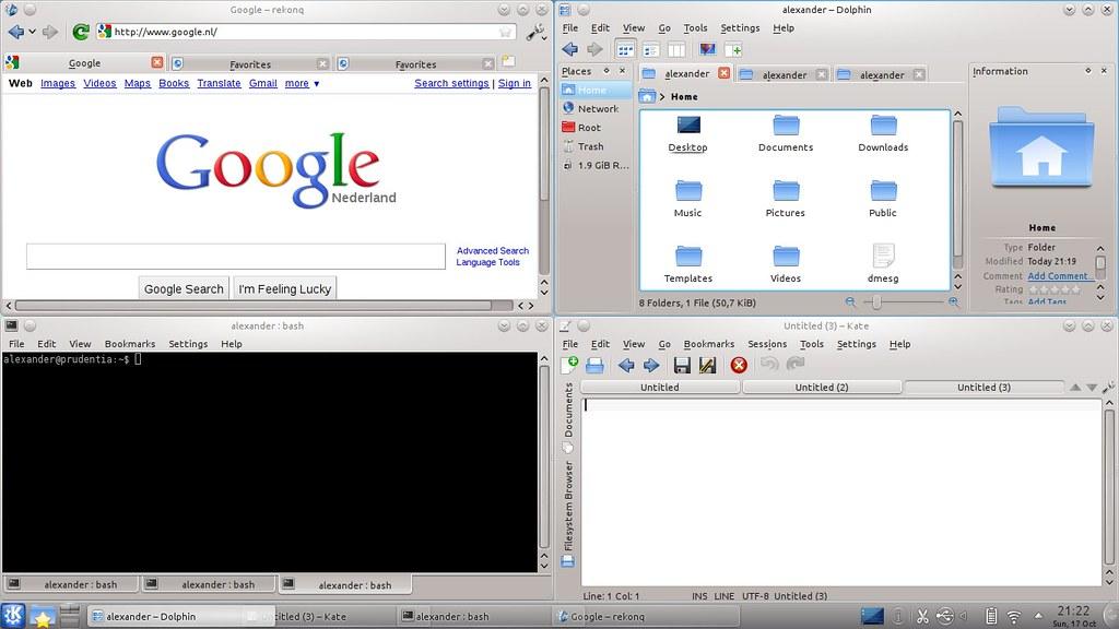 Tabs in KDE