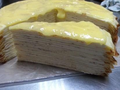 lemon cheese millie crepe