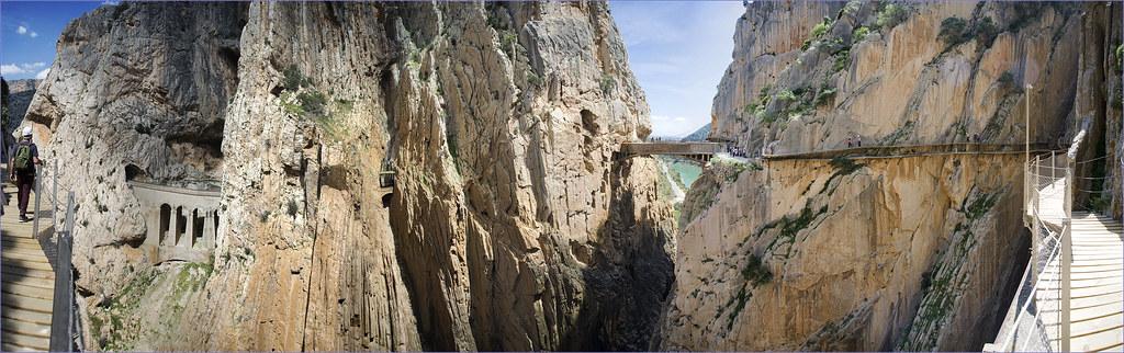 Caminito del Rey (The little Path of the king) El Chorro. Malaga