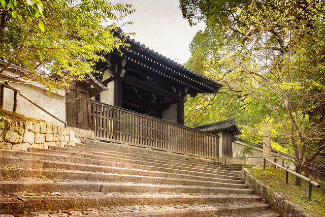Stairs leading to the Shōren-in temple