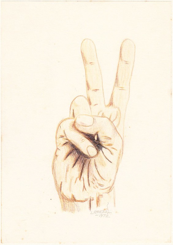 Peace Sign by Leland Green at age 13(!)