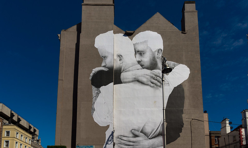 LARGE MURAL BY JOE CASLIN [SAME-SEX MARRIAGE] REF-103588