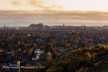 Sunrise Overlooking Edinburgh