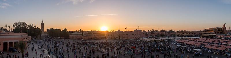 Djamaa El Fna Panorama
