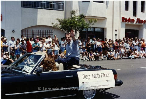 1994 - San Diego LGBT Pride Parade: Contingent - Bob Filner, San Diego's Congress Representative.