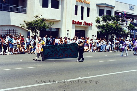 1995 - San Diego LGBT Pride Parade: Unknown Contingent Marching Along University Ave.