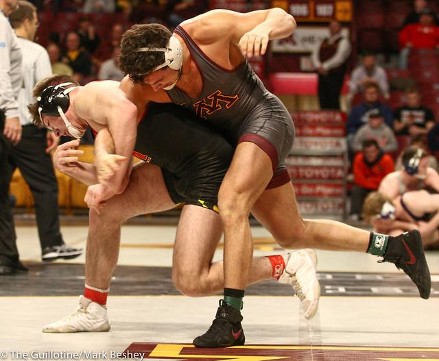 Cons. Round 1 - Brandon Krone (Minnesota) 9-14 won by major decision over Kyle Jasenski (Maryland) 10-17 (MD 13-2) - 1903amk0430