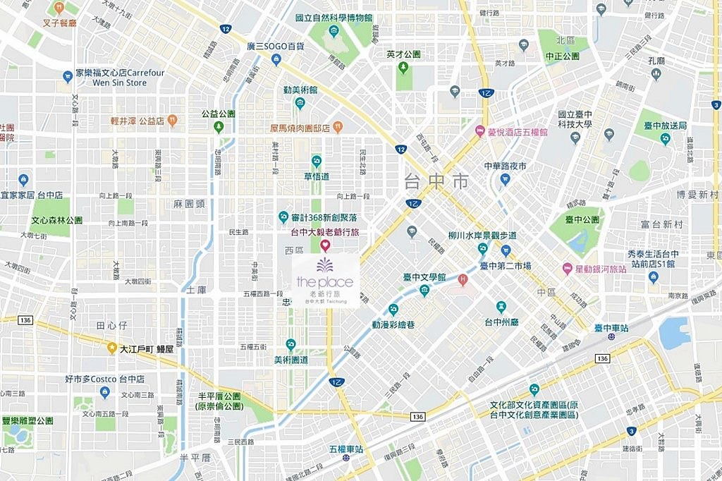 The Place Taichung Map