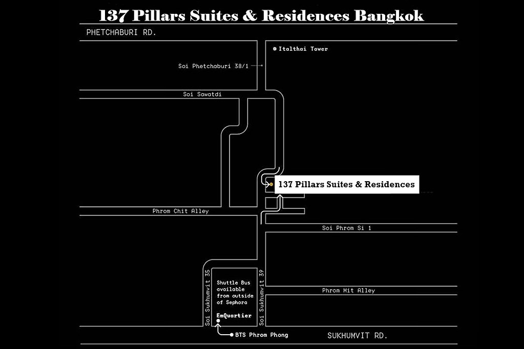 137 Pillars Suites & Residences Bangkok Map 2