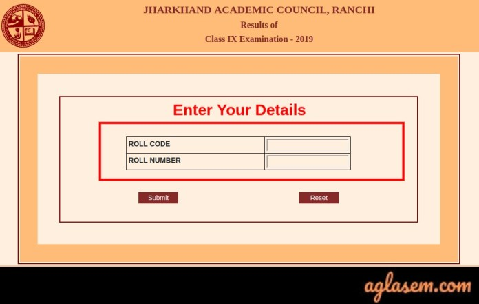 JAC 9th Result 2019