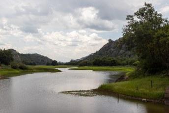 Het stuwmeer van de Maleme dam.