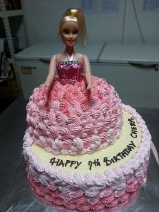 Barbie in red velvet cake.