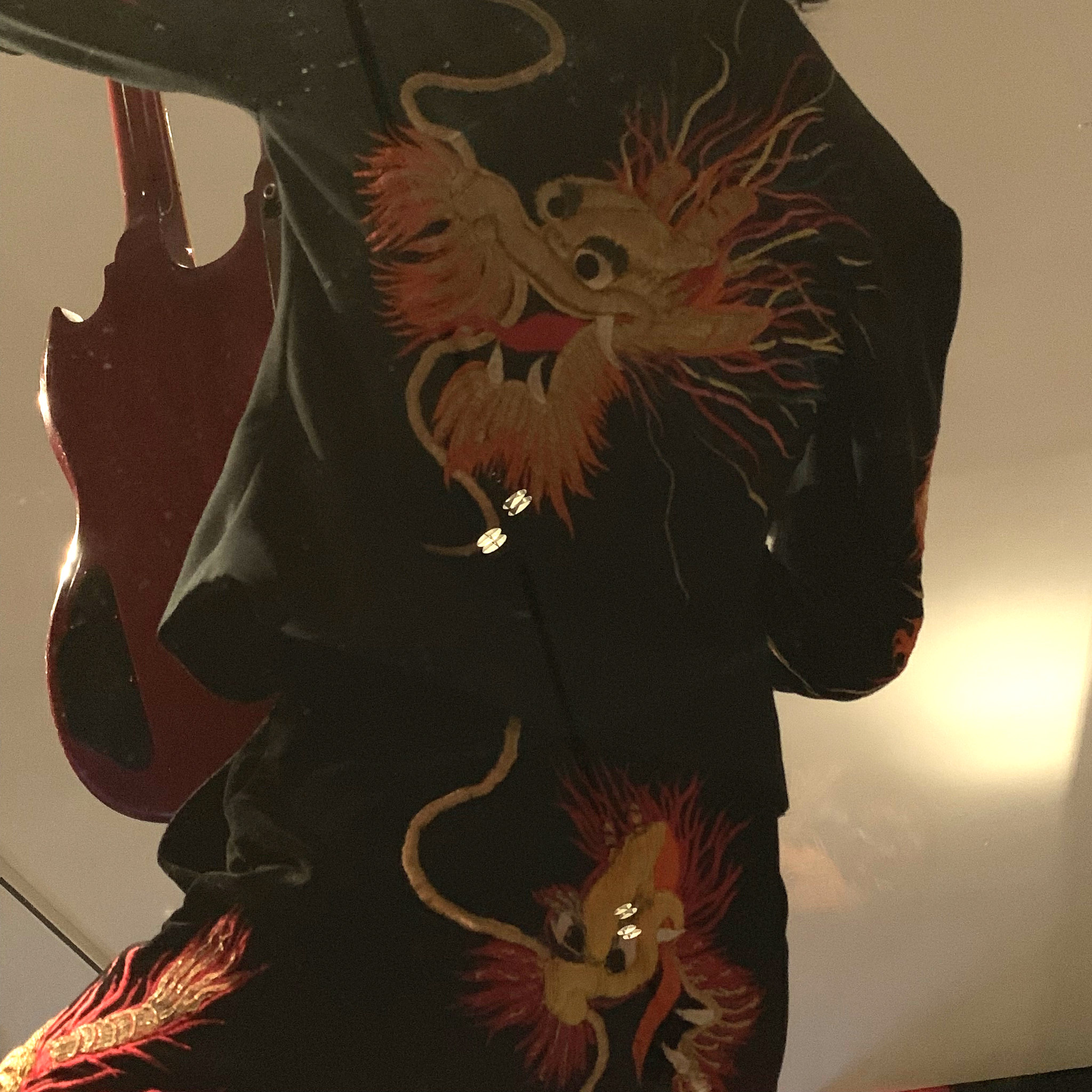 Detail on Jimmy Page 1975 Dragon Suit