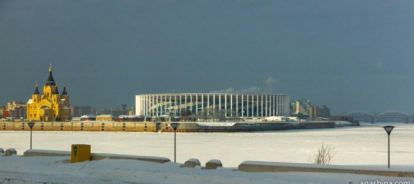 Панорама Стрелки, Нижний Новгород