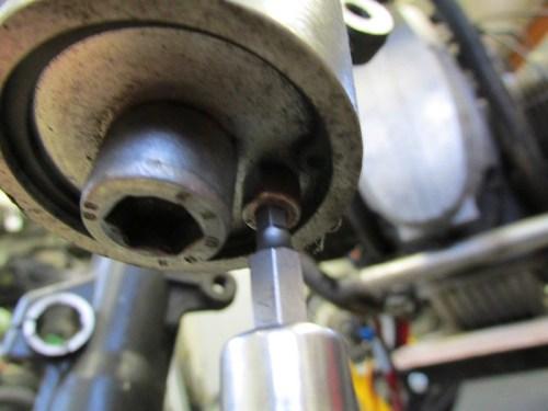 Remove Fork Slider Allan Drain Bolt