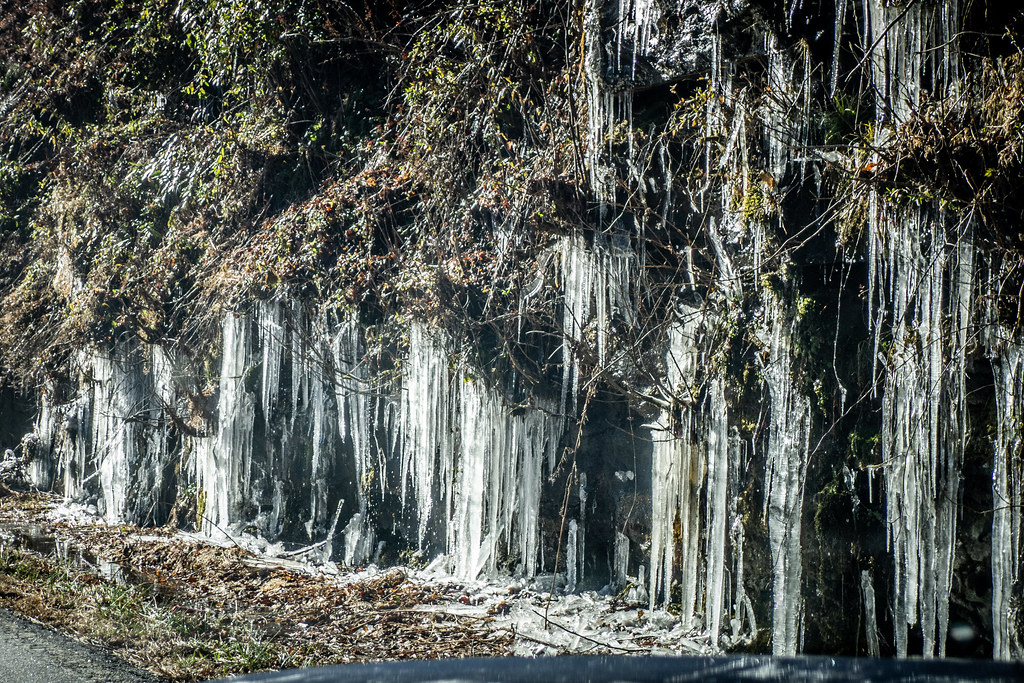 Icicles on Bat Cave Road