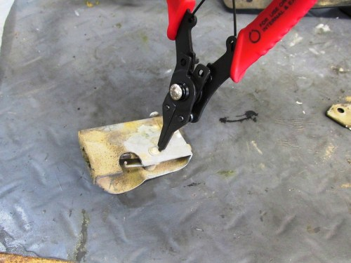 Remove Seat Latch Lever Pivot Pin Cir-Clip