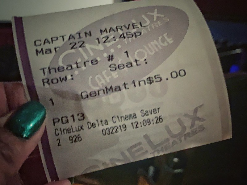 ticket to Captain Marvel