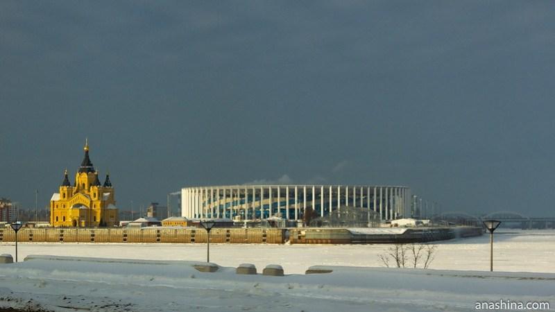 Вид на Стрелку, Нижний Новгород