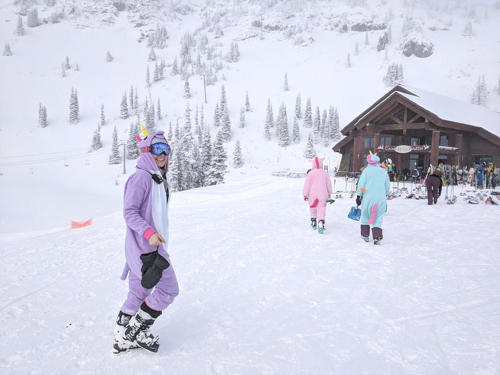always ski in costumes