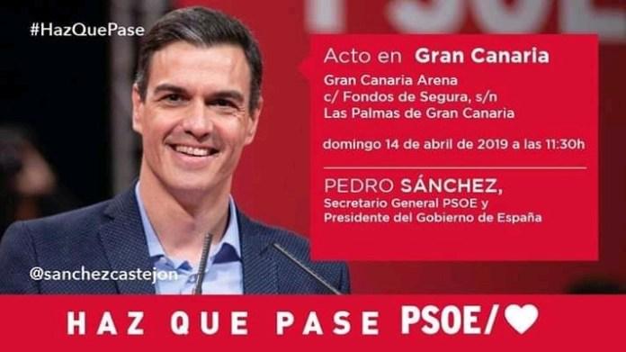 El PSOE Gáldar habilita guaguas para el acto de Pedro Sánchez en el Gran Canaria Arena