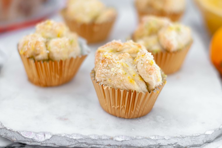 Grab a bag of Rhodes dinner rolls and transform them into these incredibly yummy Citrus Monkey Bread Muffins. Super simple to make and packed with flavor.