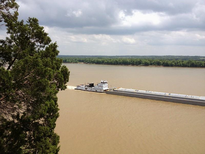 Barge on the muddy Ohio