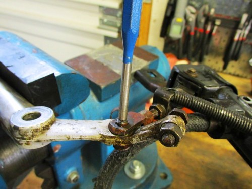 Driving Brake Pedal Linkage Pin Out With a Drift