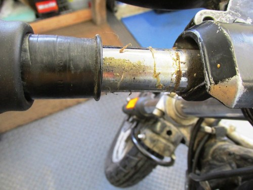 Left Handlebar Grip Assembly Glue
