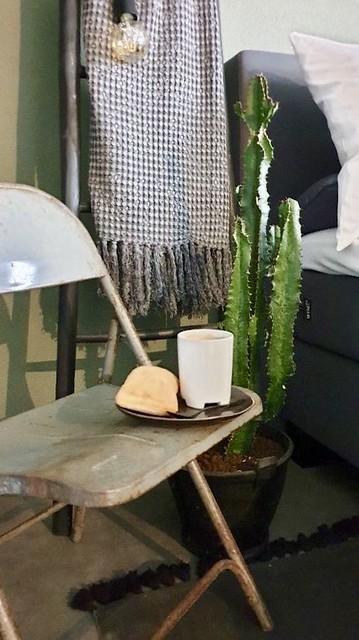 Klapstoel cactus ladder slaapkamer